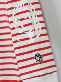 BILLIONAIRE BOYS CLUB STRIPEY LONG SLEEVE T-SHIRT RED