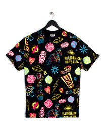 BILLIONAIRE BOYS CLUB VEGAS ICONS AOP SS T-SHIRT BLACK