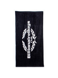 BILLIONAIRE BOYS CLUB WEALTH SEEKER BEACH TOWEL BLACK