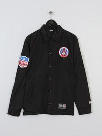 BILLIONAIRE BOYS CLUB X MAJESTIC TEAM COACH JACKET BLACK