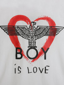 BOY London BOY Is Love T-Shirt White