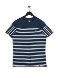 Pretty Green Bretton Stripe T-Shirt Navy