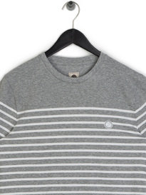 Pretty Green Bretton Stripe T-Shirt Grey