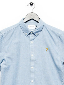 Farah Brewer Slim SS Shirt Blue