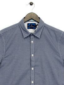 Scotch & Soda Classic Short Sleeve Shirt Navy