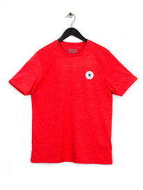 CONVERSE CORE LEFT CHEST PATCH CREW TEE RED