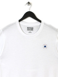 CONVERSE CORE LEFT CHEST PATCH CREW TEE WHITE