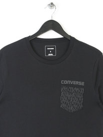 CONVERSE REFLECTIVE RAIN POCKET T-SHIRT BLACK