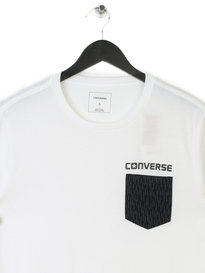 CONVERSE REFLECTIVE RAIN POCKET T-SHIRT WHITE