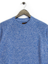 Barbour Cotton Staple Crew Knit Blue