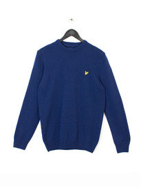 CREW NECK LAMBSWOOL 7GG Z99 NAVY