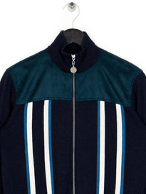 Pretty Green Daley Funnel Neck Knit Navy