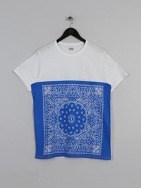 Edwin Bandana Block T-Shirt White