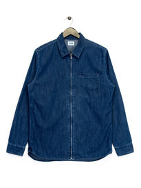 Edwin Demo Zip Up Shirt Denim