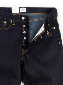 EDWIN ED-45 DEEP BLUE UNWASHED DENIM JEAN