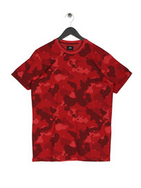 Edwin Fervor Camo T-Shirt Red