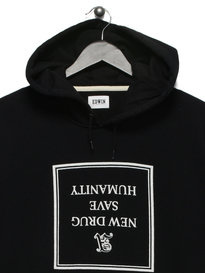 Edwin Hero Hooded Americana Sweat Black