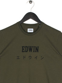 Edwin Japan Short Sleeve T-Shirt Olive Green