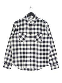 Edwin Labour Light Flannel Long Sleeve Shirt Off White
