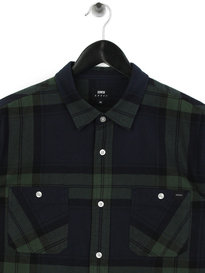 Edwin Labour Mid Twill Flannel Shirt Green