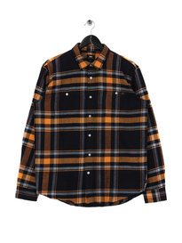Edwin Labour Mid Twill Flannel Shirt Orange