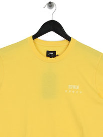 Edwin Logo Chest T-Shirt Yellow