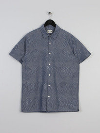 Edwin Nimes Shirt Chambray Dobby Blue