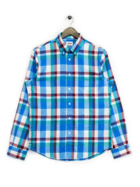 Edwin Standard Herringbone Check Shirt Blue