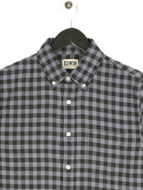 Edwin Standard Light Flannel Long Sleeve Shirt Grey