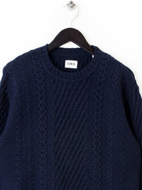 Edwin United Sweater Ecoplanet Navy