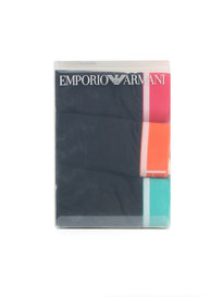 Emporio Armani 3 Pack Trunk Black