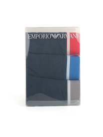 Emporio Armani 3 Pack Trunk Blue