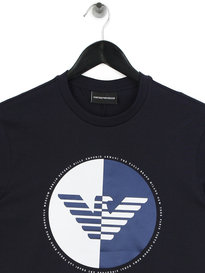 Emporio Armani 50/50 Eagle T-Shirt Navy