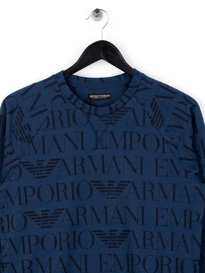 Emporio Armani AO Print Sweat Blue