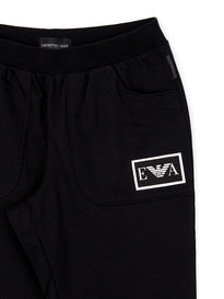 Emporio Armani Cuffed Trackpants Black