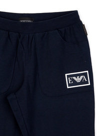 Emporio Armani Cuffed Trackpants Navy