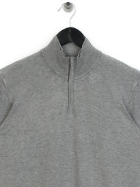 Emporio Armani Half Zip Knit Grey