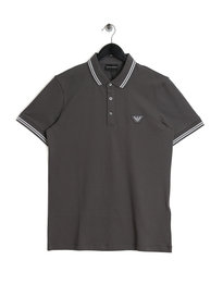 Emporio Armani Tipped SS Polo Grey