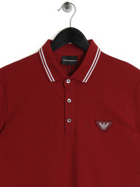 Emporio Armani Tipped SS Polo Red