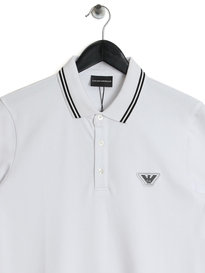 Emporio Armani Tipped SS Polo White