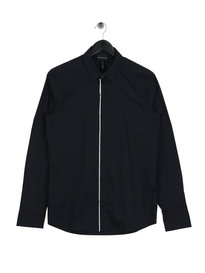 Emporio Armani Trim Placket Shirt Navy
