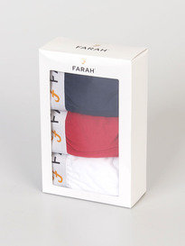FARAH 3 PACK BOXER SHORTS MULTI