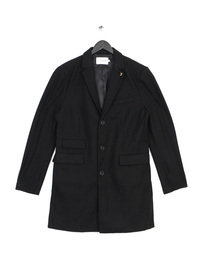 Farah Askern Pln Btncf Coat Black