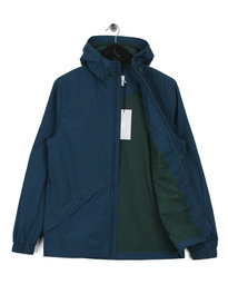 Farah Astoria Hooded Coat Blue