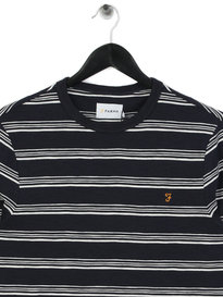 Farah Ballater Long Sleeve Stripe T-Shirt Navy
