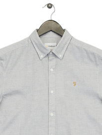 Farah Beacroft Slim Short Sleeve Shirt Grey