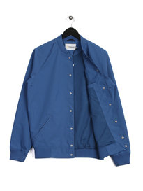 Farah Bellinger Snap Sol Jacket Blue