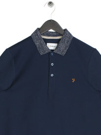 Farah Boggart Short Sleeve Polo Navy