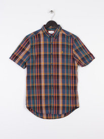Farah Bolland Short Sleeve Shirt Blue
