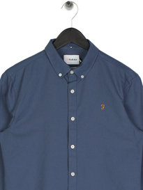 Farah Brewer Long Sleeve Shirt Blue